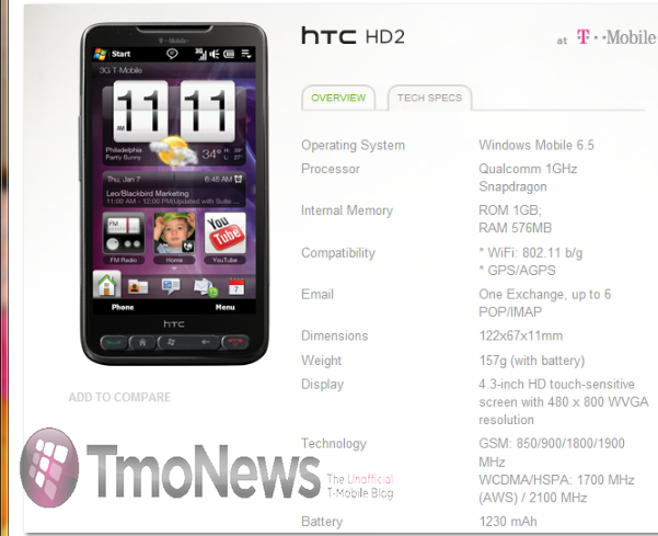 T-Mobile HTC HD2_Part1_wm