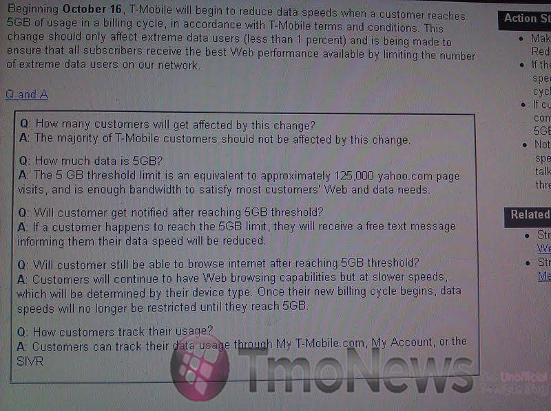 T-Mobile Reducing Data Cap, Will Throttle Speeds After 5GB Of Usage