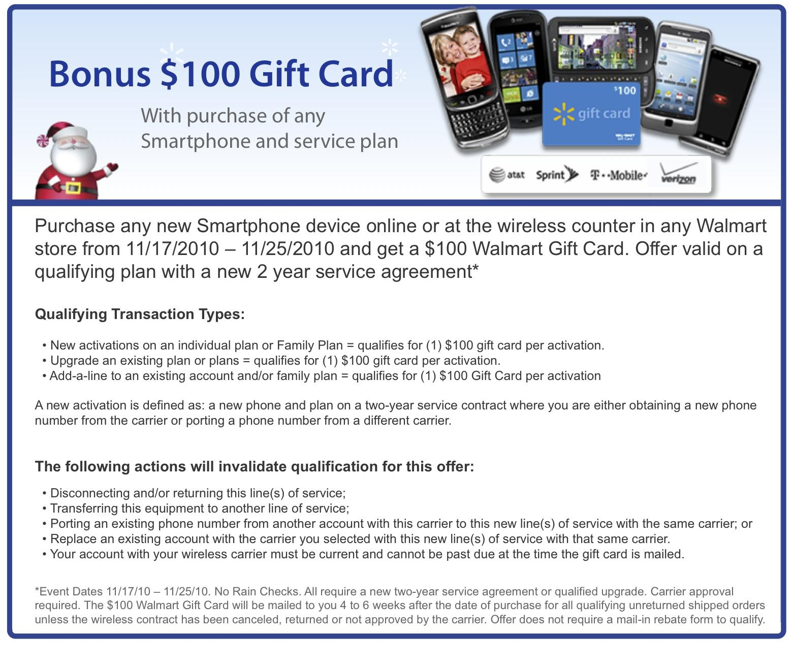 Walmart offering 100 gift cards with smartphone purchases through tags blackberry 1betcityfo Choice Image