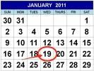 A1 January 2011 Calendar Free