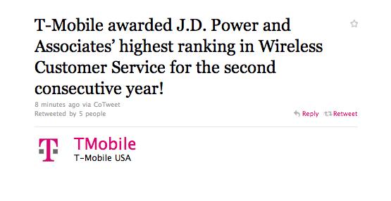 JD Powers Awards T-Mobile For Best Customer Service - TmoNews