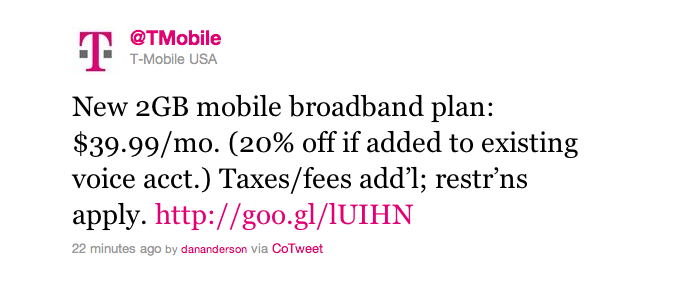T Mobile Announces 2gb Mobile Broadband Plan Tmonews
