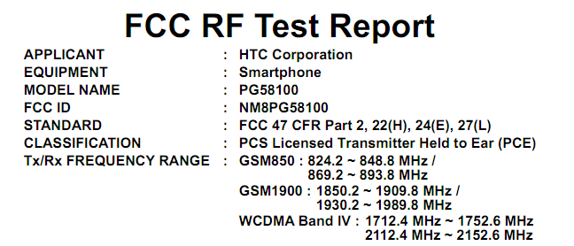 (Updated!!!) HTC Sensation 4G Passes FCC, AWS Bands On Board