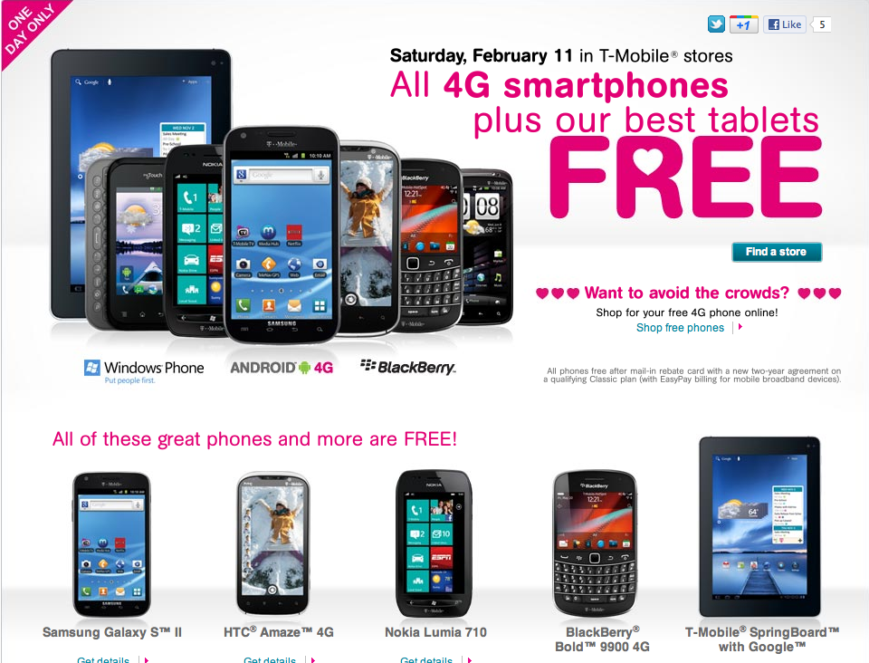 T Mobile Pushes Out Statement Valentine S Day Sale Website Now Live Tmonews