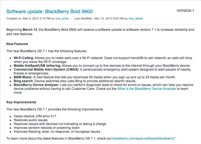 Wi-Fi Calling Comes To Blackberry 9900, 9810 With New