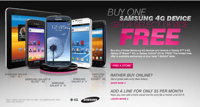t mobile announces back to school promotions samsung 4g galaxy smartphone sale tmonews. Black Bedroom Furniture Sets. Home Design Ideas