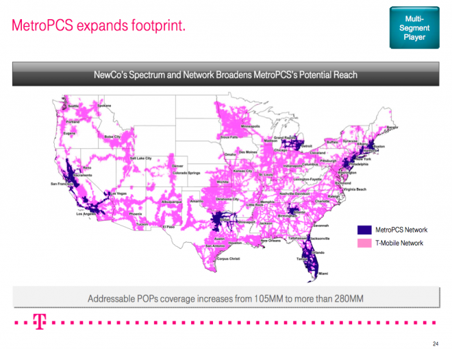 What Does The TMobile MetroPCS Merger Mean For You TmoNews - Metro pcs us coverage map