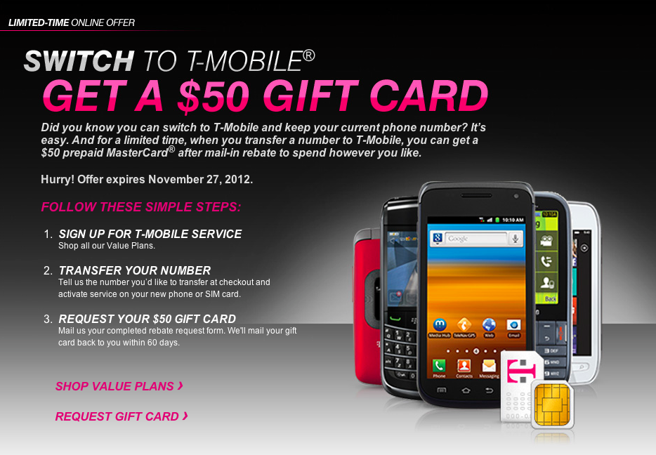 T-Mobile Offers $50 MasterCard Gift For New Value Plan Customers ...