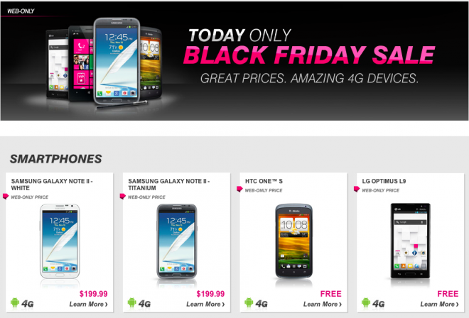 T mobile posts one day online only black friday deals tmonews - Black friday mobel ...
