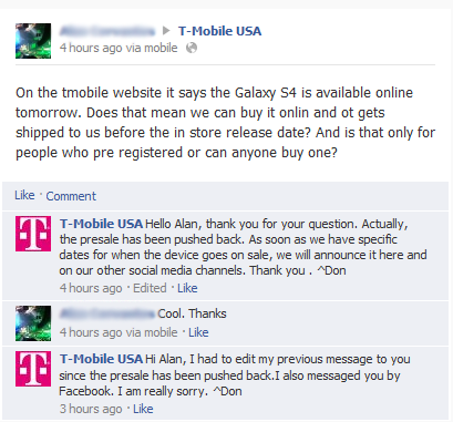 Updated Delayed Till April 29th Has T Mobile Pushed Back Online
