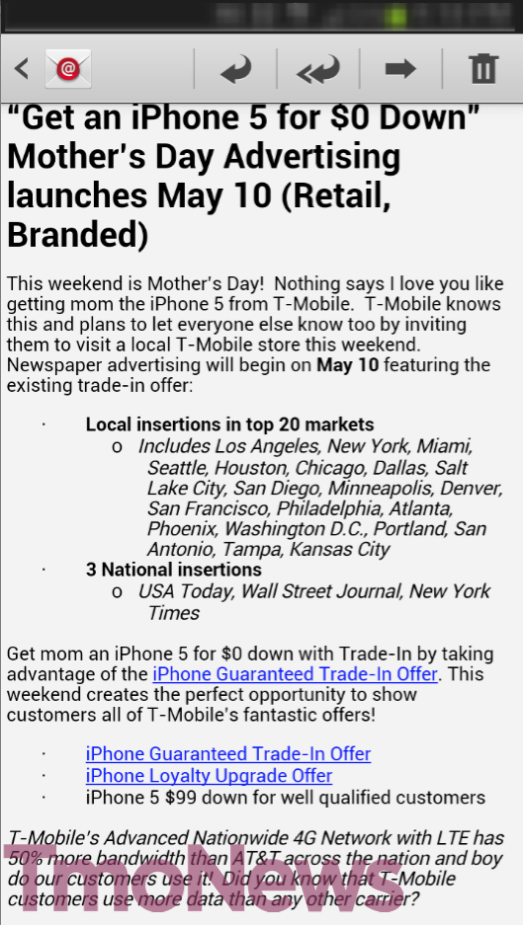 T Mobile S Mother S Day Advertising Features Existing 0 Down