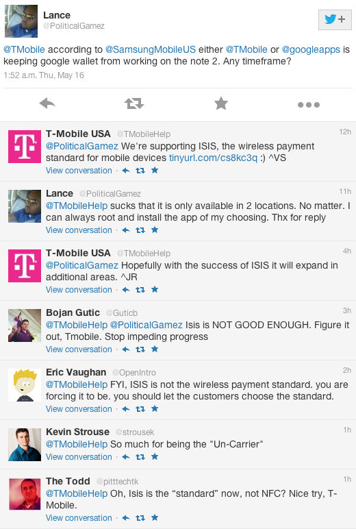 T-Mobile's Twitter Account Explains Why Carrier Won't Support Google