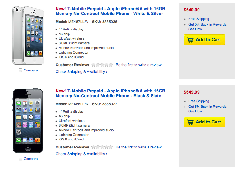 cca7979c673 Best Buy Joins Walmart With Prepaid iPhone 5 Sales On T-Mobile - TmoNews