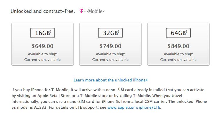 tmobile iphone 5s for sale screen 2013 09 10 at 2 27 10 pm tmonews 1623