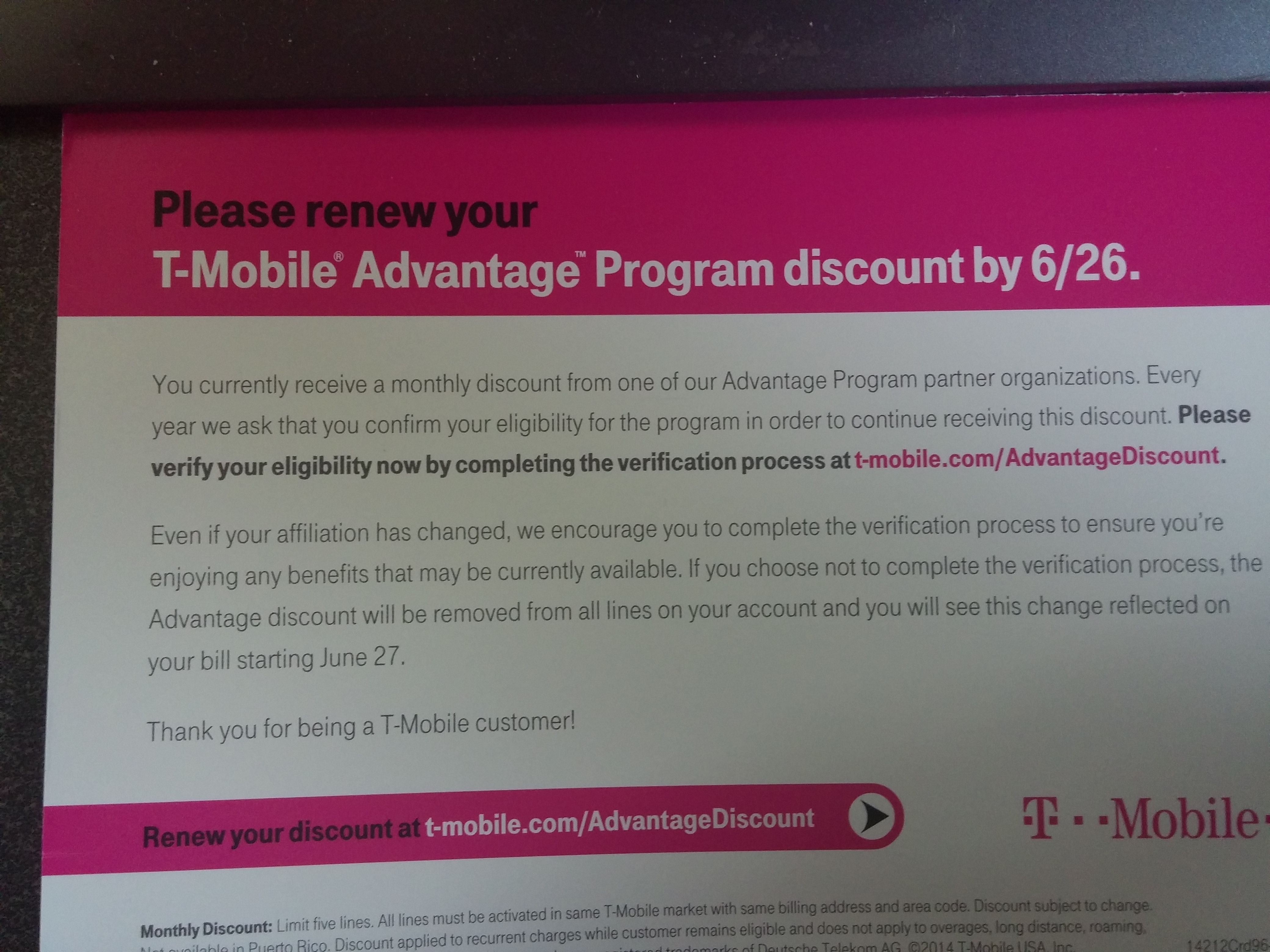 Aaa and pta members losing their t mobile monthly discount update aaa and pta members losing their t mobile monthly discount update company statement tmonews fandeluxe Choice Image