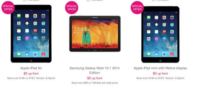 100 off select t mobile tablets through june 15