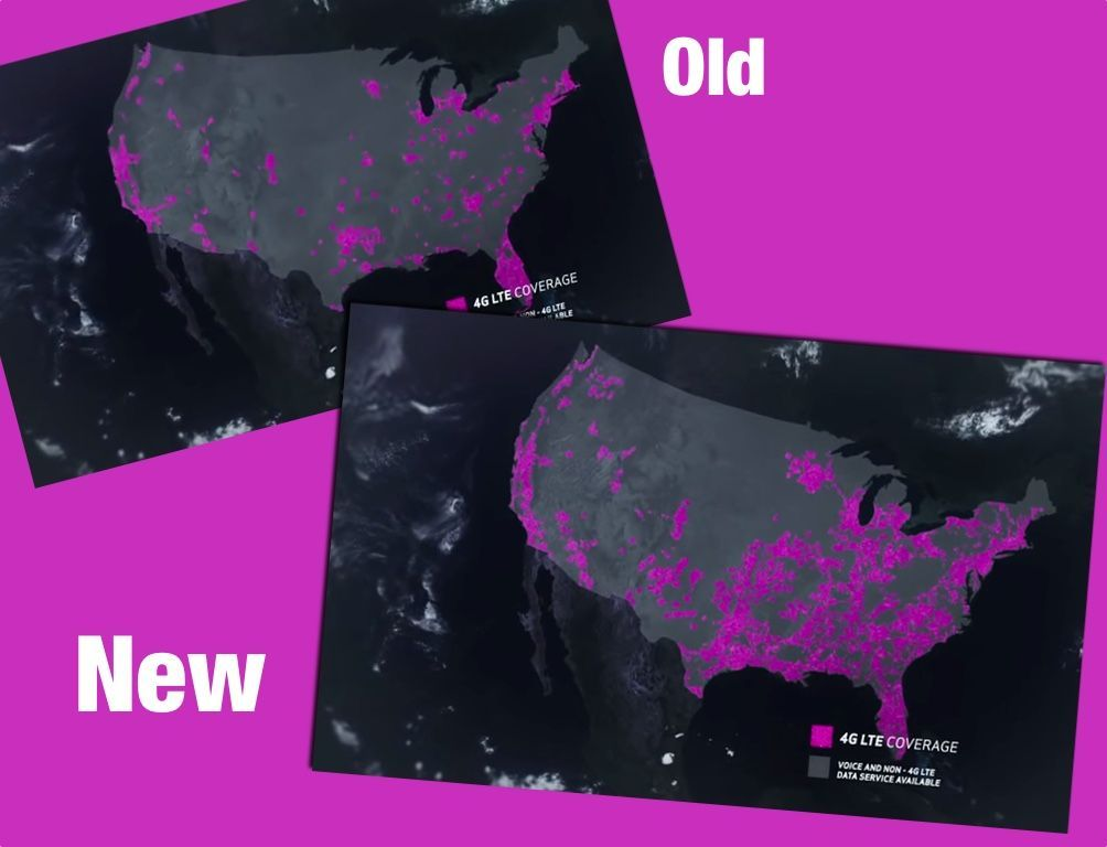 Spot The Difference Verizon S Old Map Of T Mo Lte Coverage Vs The New Map Tmonews