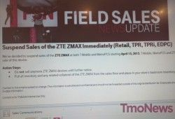 T-Mobile suspends sales of ZTE ZMAX, just 7 months after