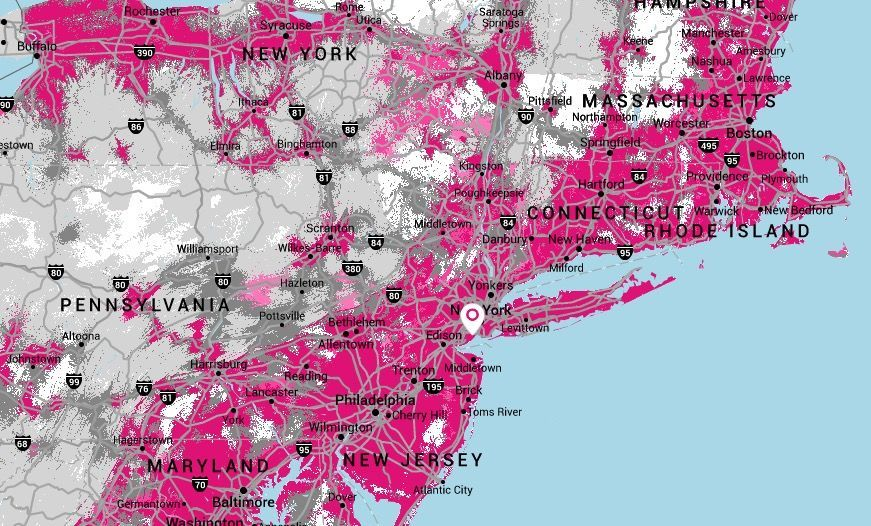 TMobiles New Next Gencoverage Maps Hit Or Miss TmoNews - Cell phone network coverage map