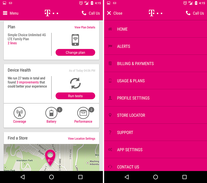 New T Mobile Android App Leaks With Fresh Design In Tow