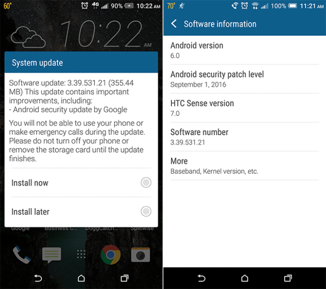 T-Mobile HTC One M9 getting September security update - TmoNews