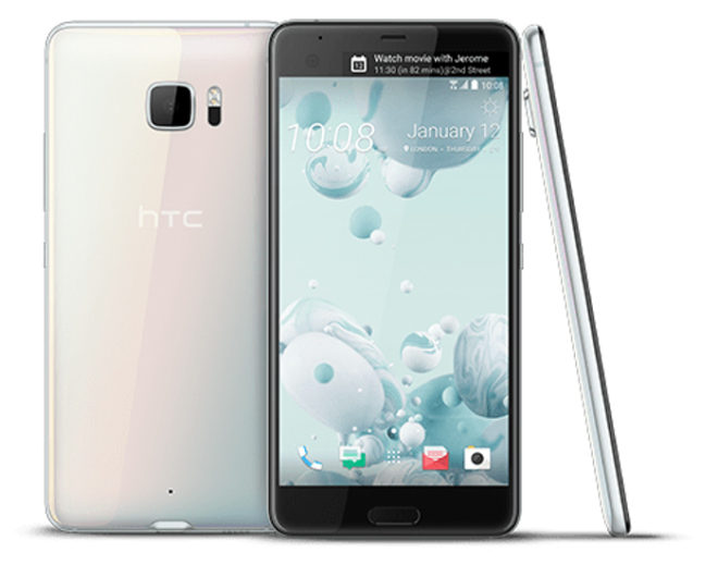 HTC U Ultra is a new Android phablet with a glass body and ...