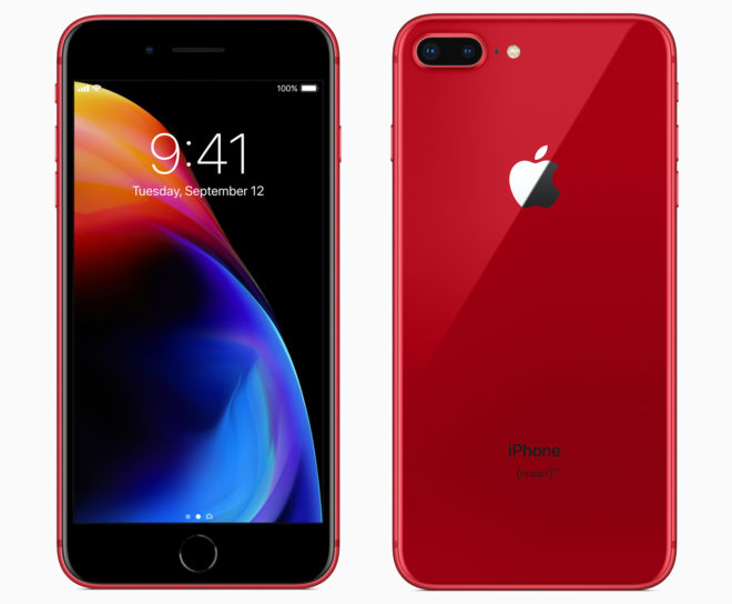 Red iPhone 8 and iPhone 8 Plus revealed, will be available