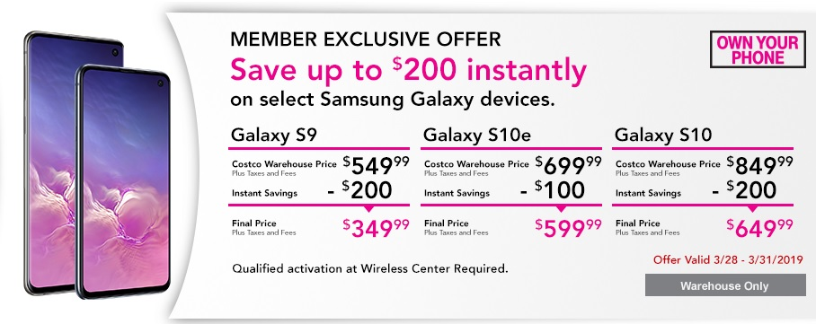Costco selling T-Mobile-Locked Samsung Galaxy S9 for $350 - TmoNews