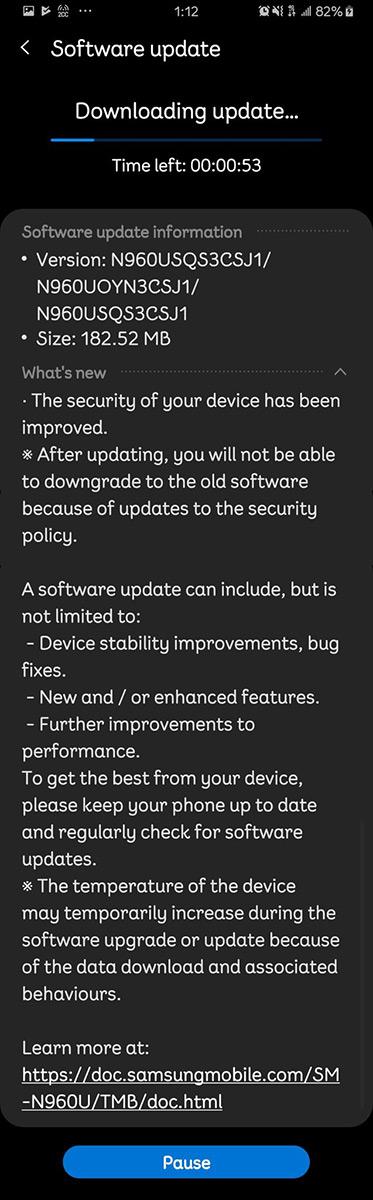 tmobile-note-9-update-nov