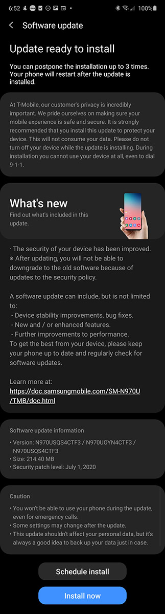 tmobile-note-10-update-july-2020